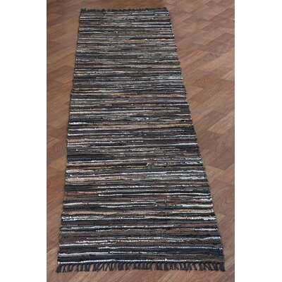 Matador Hand-Loomed Brown Area Rug Rug Size: Runner 26 x 8