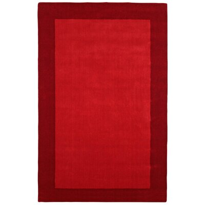 Pulse Red Border Rug Rug Size: 5 x 8