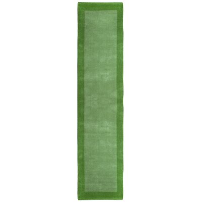 Pulse Green Border Rug Rug Size: Runner 26 x 12
