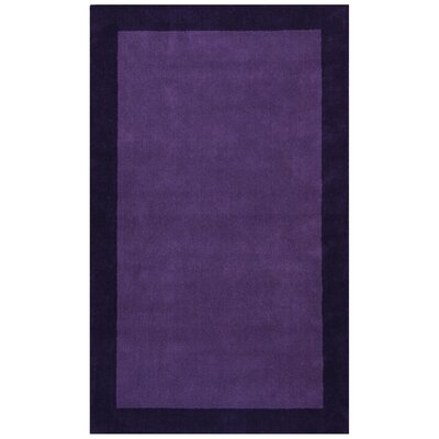 Pulse Purple Border Rug Rug Size: 4 x 6