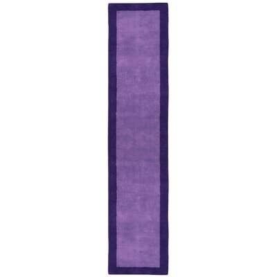 Pulse Purple Border Rug Rug Size: Runner 26 x 12