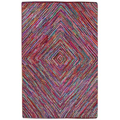 Brilliant Ribbon Vortex Area Rug Rug Size: 4 x 6