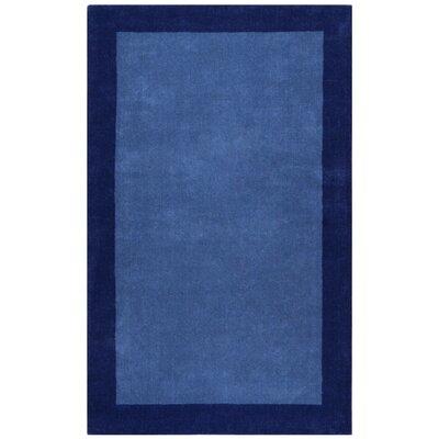Pulse Blue Border Rug Rug Size: 4 x 6