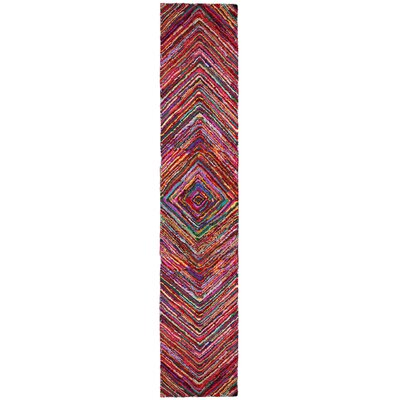 Brilliant Ribbon Vortex Area Rug Rug Size: Runner 26 x 12