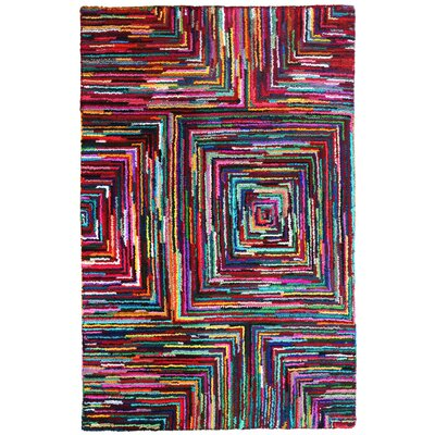 Brilliant Ribbon Blocks Area Rug Rug Size: 5 x 8