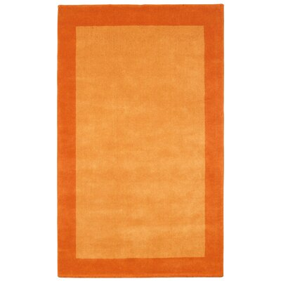 Pulse Orange Border Rug Rug Size: 4 x 6