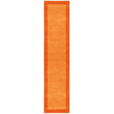 Pulse Orange Border Rug Rug Size: Runner 26 x 12