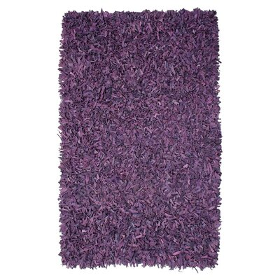 Baum Leather Purple Area Rug Rug Size: Rectangle 26 x 42