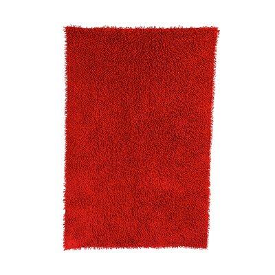 Shagadelic Red Rug Rug Size: 26 x 42