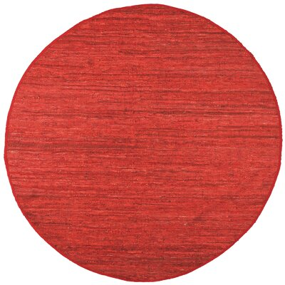 Matador Hand-Loomed Red Area Rug Rug Size: Round 3