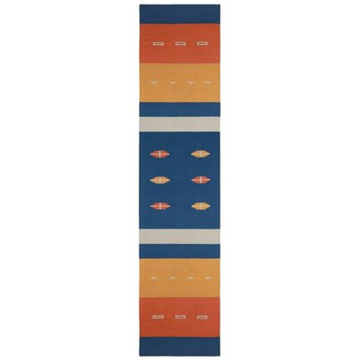 Sedona Hand-Woven Blue Area Rug Rug Size: 5 x 8