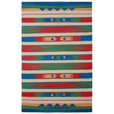 Sedona Hand-Woven Green Area Rug Rug Size: 5 x 8