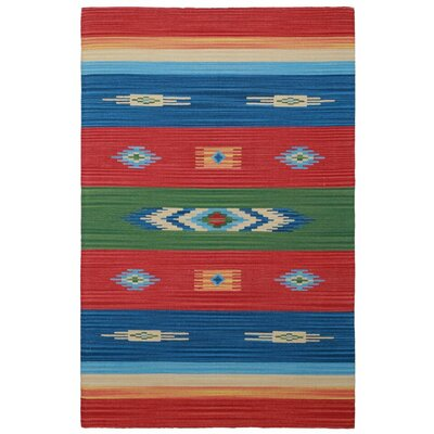 Sedona Hand-Woven Red Area Rug Rug Size: Runner 26 x 12