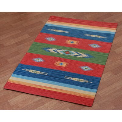 Sedona Hand-Woven Red Area Rug Rug Size: 4 x 6