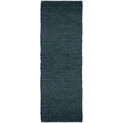 Matador Hand-Loomed Black Area Rug Rug Size: Runner 26 x 8