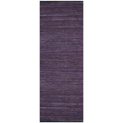 Matador Hand-Loomed Purple Area Rug Rug Size: Runner 26 x 14