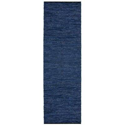 Matador Hand-Loomed Blue Area Rug Rug Size: Runner 26 x 14