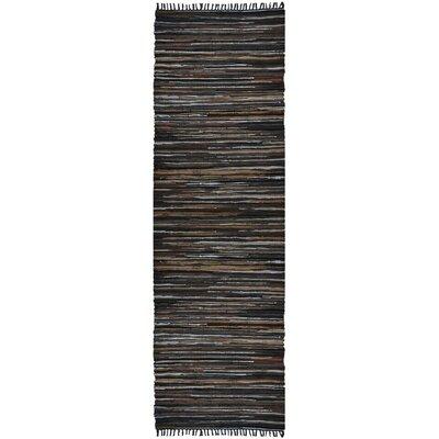 Matador Hand-Loomed Brown Area Rug Rug Size: Runner 26 x 14