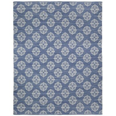 Jacquard Handmade Blue Area Rug Rug Size: 8 x 10
