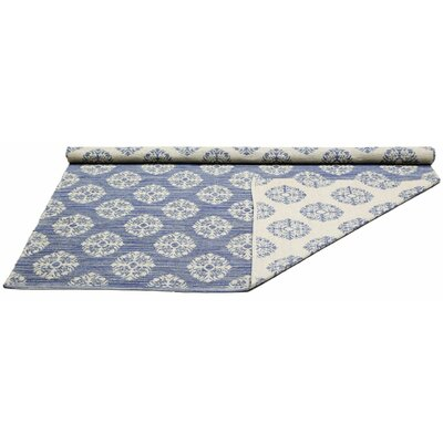Jacquard Handmade Blue Area Rug Rug Size: 5 x 8