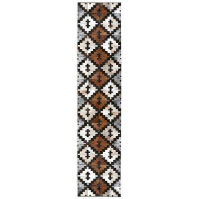 Matador Hand-Woven Brown/Tan Area Rug Rug Size: Runner 26 x 12