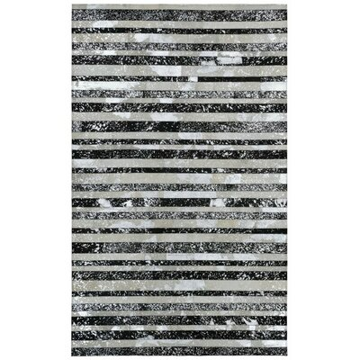Matador Hand-Woven Silver/Black Area Rug Rug Size: Rectangle 5 x 8