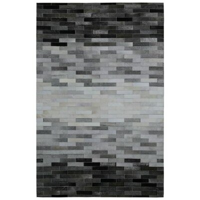Matador Hair-On Hide Hand-Woven Gray Area Rug Rug Size: 8 x 10