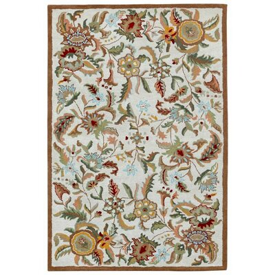 Traditions Hand-Tufted Brown Area Rug Rug Size: 4 x 6