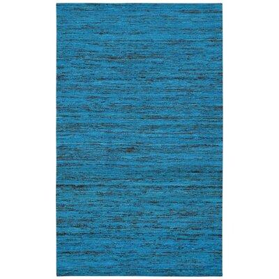 Sari Silk Handmade Aqua Area Rug Rug Size: 5 x 8