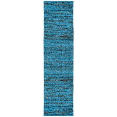 Sari Silk Handmade Aqua Area Rug Rug Size: Runner 26 x 12