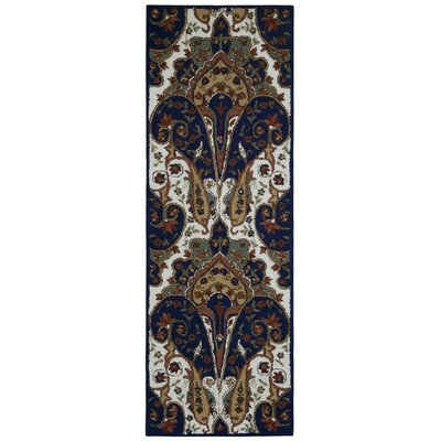 Structure Hand-Tufted Brown Area Rug Rug Size: Runner 26 x 12