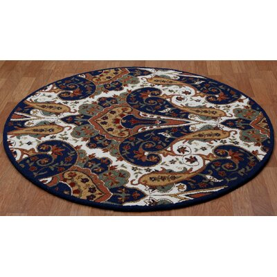 Structure Hand-Tufted Brown Area Rug Rug Size: Round 8