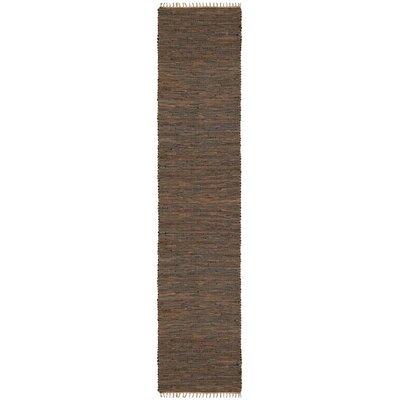 Matador Hand-Loomed Brown Area Rug Rug Size: Runner 26 x 8