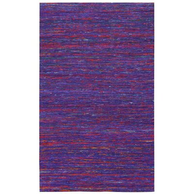 Sari Silk Handmade Purple Area Rug Rug Size: 5 x 8