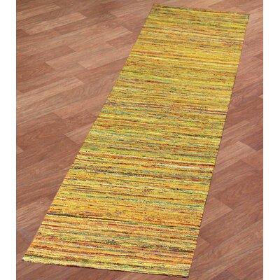 Sari Silk Handmade Yellow Area Rug Rug Size: 4 x 6