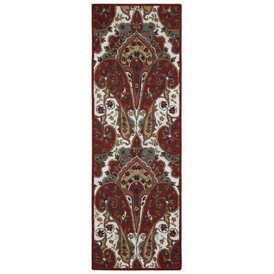Structure Hand-Tufted Red Area Rug Rug Size: Runner 26 x 12