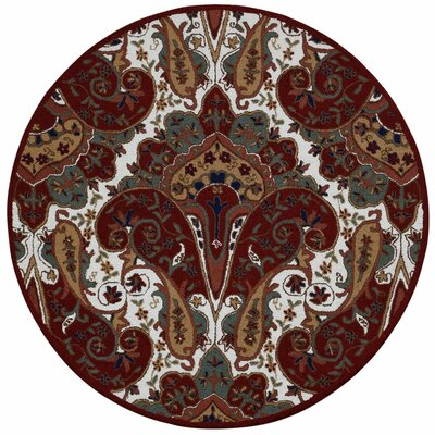 Structure Hand-Tufted Red Area Rug Rug Size: Round 6