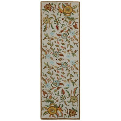 Traditions Hand-Tufted Brown Area Rug Rug Size: Runner 26 x 8