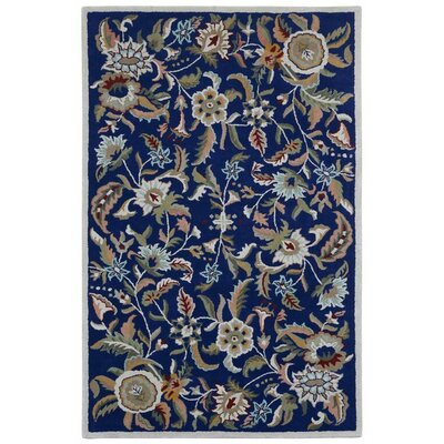 Traditions Hand-Tufted Blue Area Rug Rug Size: 5 x 8