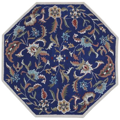 Traditions Hand-Tufted Blue Area Rug Rug Size: Octagon 6