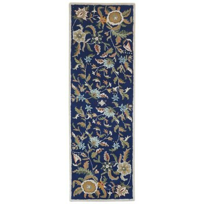 Traditions Hand-Tufted Blue Area Rug Rug Size: Runner 26 x 12