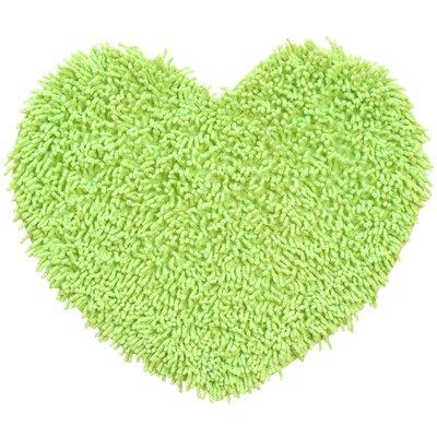 Shagadelic Hand-Loomed Green Area Rug Rug Size: Heart 18 x 2