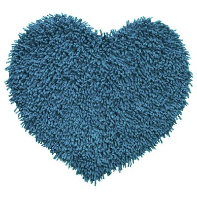 Shagadelic Hand-Loomed Blue Area Rug Rug Size: Heart 18 x 2