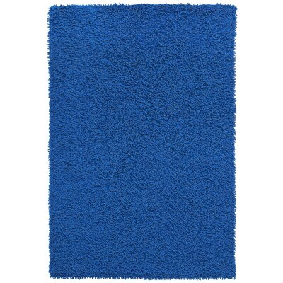 Shagadelic Hand-Loomed Neon Blue Area Rug Rug Size: Rectangle 19 x 210