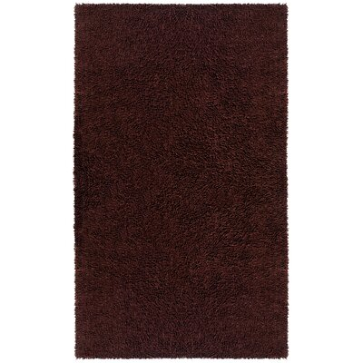 Shagadelic Hand-Loomed Brown Area Rug Rug Size: Rectangle 19 x 210