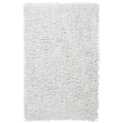 Shagadelic Hand-Loomed White Area Rug Rug Size: Rectangle 19 x 210