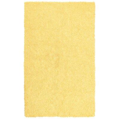 Shagadelic Hand-Loomed Yellow Area Rug Rug Size: 19 x 210