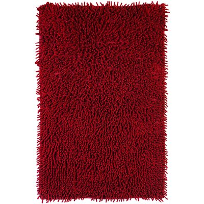 Shagadelic Hand-Loomed Burgundy Area Rug Rug Size: Rectangle 1'9