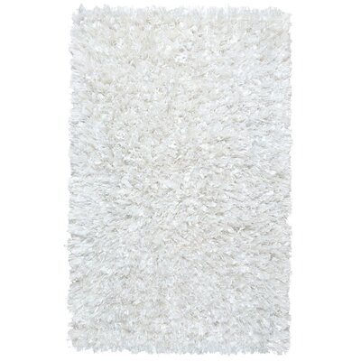 Baumann Hand-Loomed White Area Rug Rug Size: Rectangle 26 x 42