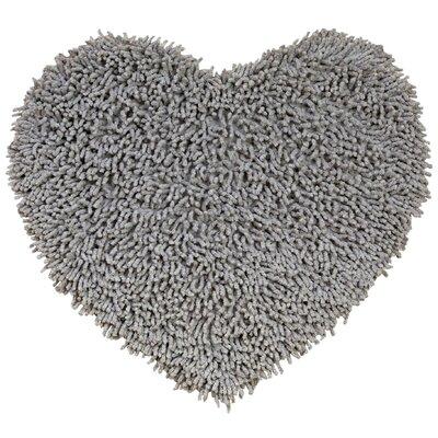 Shagadelic Hand-Loomed Gray Area Rug Rug Size: Heart 18 x 2